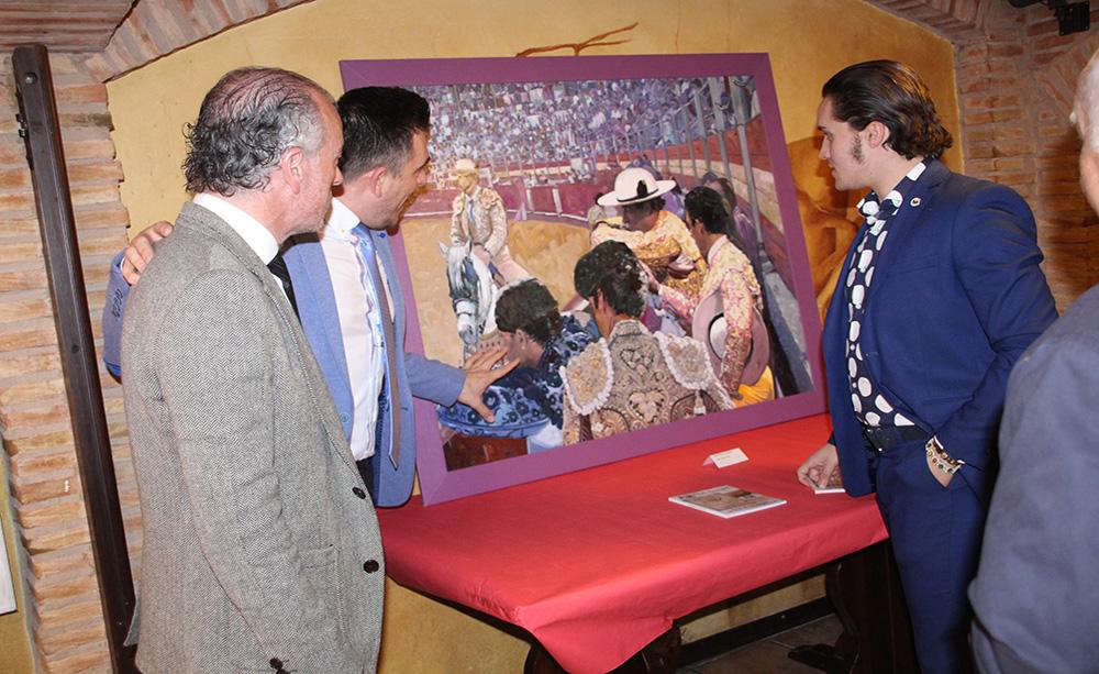 Pintura taurina en el Ciudad de Calahorra