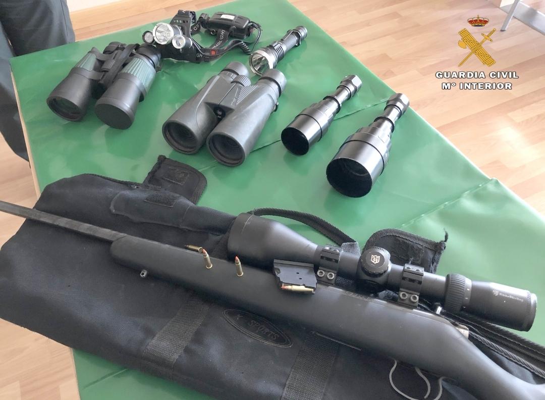 Denunciados por caza furtiva en Autol
