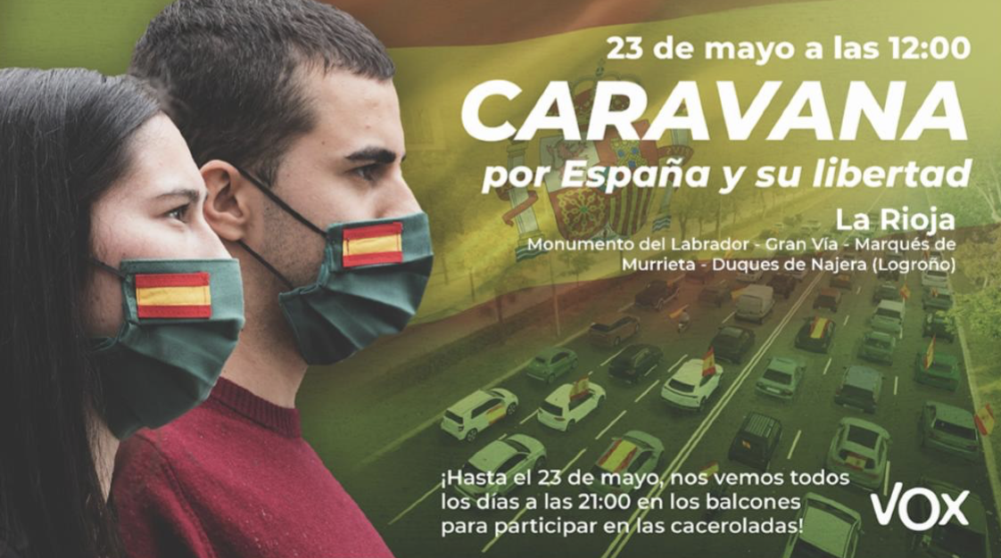 VOX convoca a una manifestación este sábado el Logroño