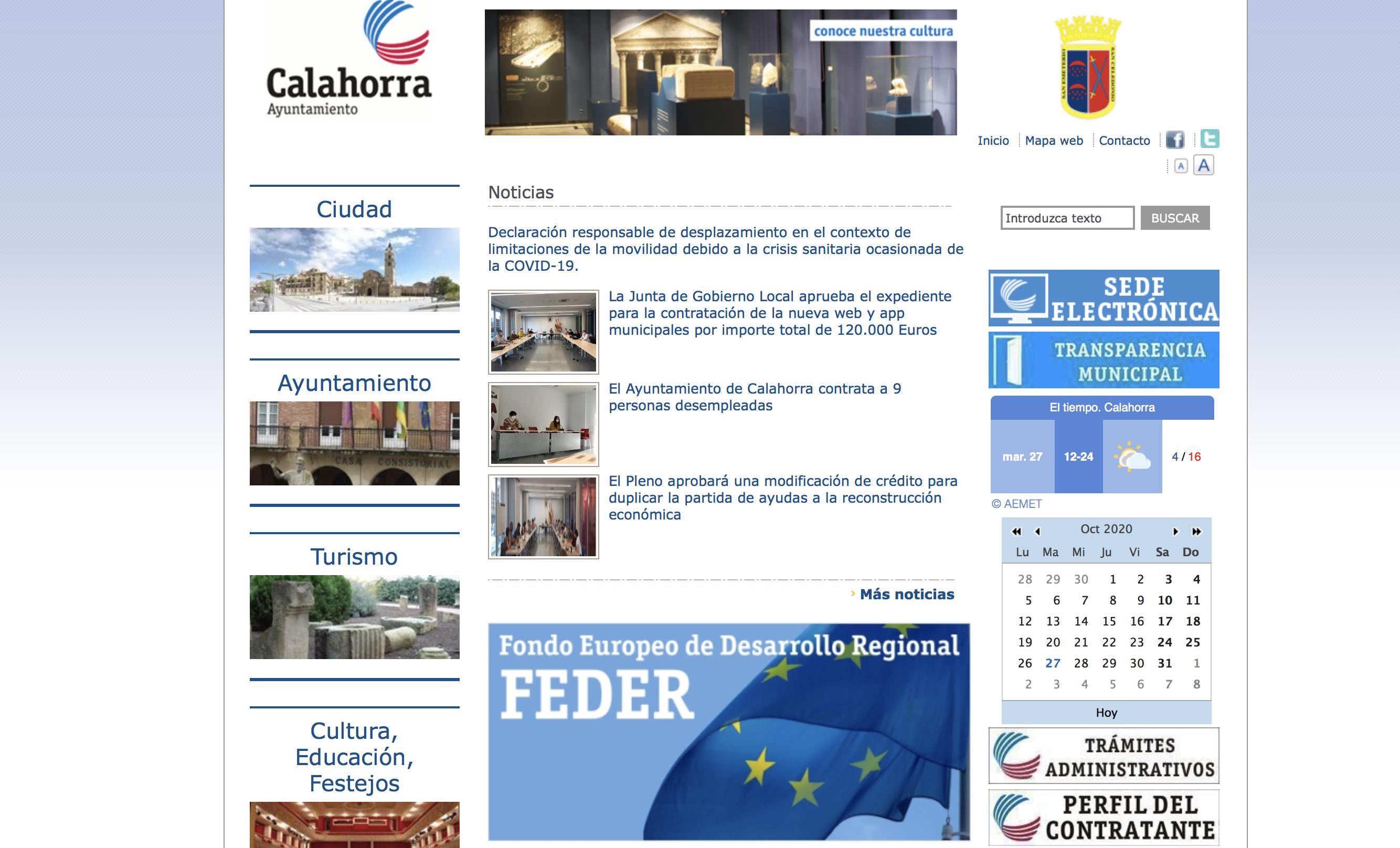 El ayuntamiento de Calahorra rediseñará su página web