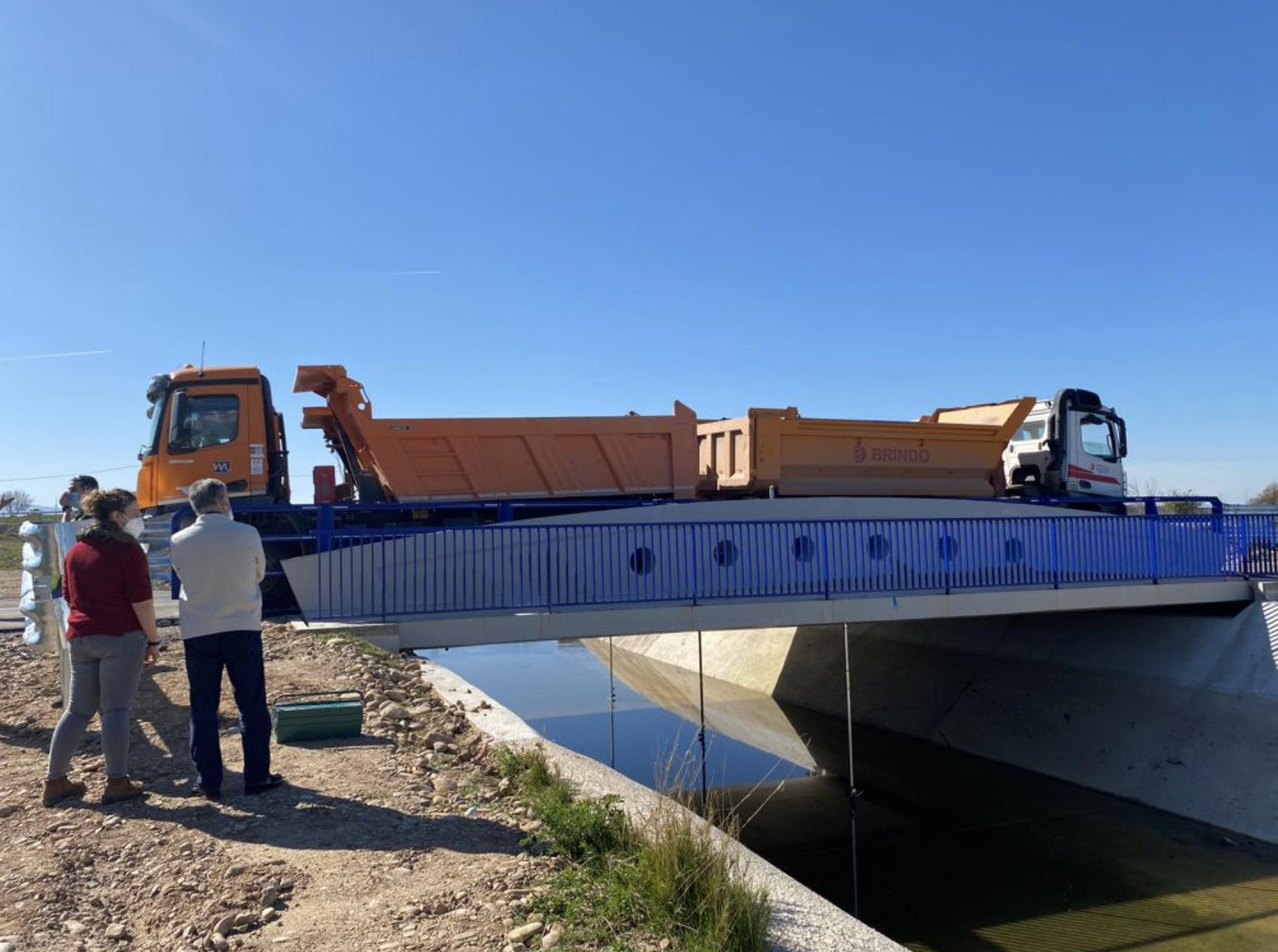 Finalizadas las obras del puente del canal de Lodosa en Calahorra